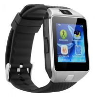 Android Smart watch Silver DZ09 with GSM slot Bluetooth for iOS and Android