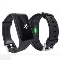 K1 BLACK BLOOD PRESSURE WATERPROOF BLUETOOTH FITNESS BRACELET HEART RATE MONITOR