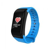 F1 PLUS BLUE BLOOD PRESSURE WATERPROOF BLUETOOTH FITNESS BRACELET HEART RATE MONITOR