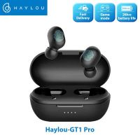 Haylou GT1 Pro Touch Control Wireless Earphones, Big Battery 3D Stereo Dual Microphone - Black