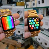 W26 Plus Smart Watch With Gold Chain Straps 44mm Size For Apple Watch Men Bluetooth Call 1.75 Inch Screen Rotation Function