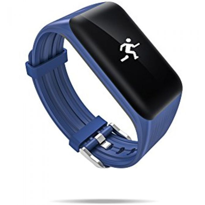 K1 BLUE BLOOD PRESSURE WATERPROOF BLUETOOTH FITNESS BRACELET HEART RATE MONITOR