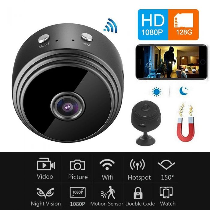 MAGNETIC WIFI MINI CAMERA 1080P HD A9