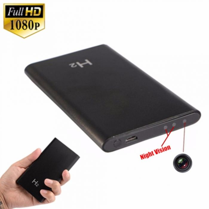 Spy Camera Power bank H2 Night Vision Portable Mini HD 1080P