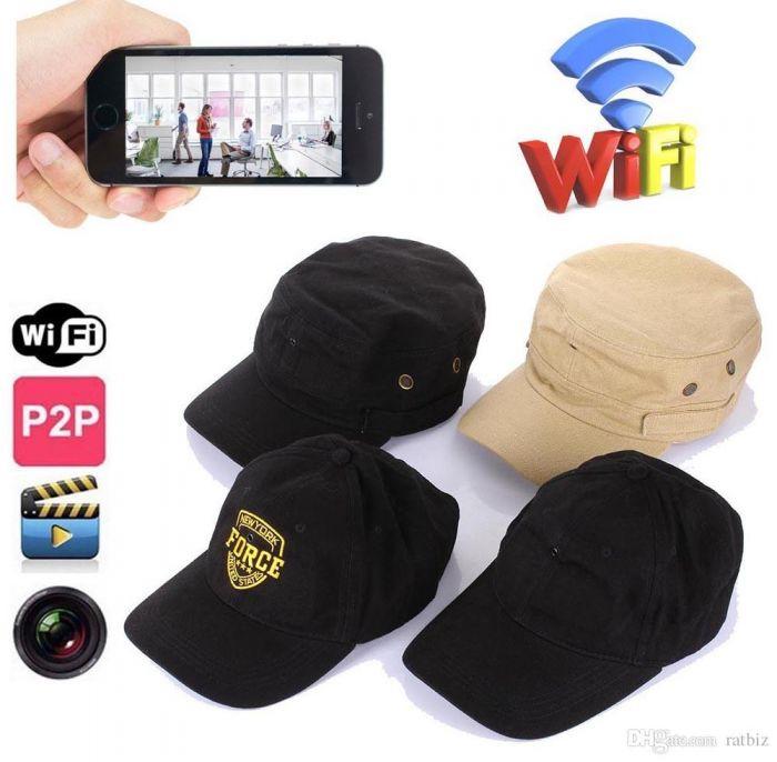 Spy WiFi Night Vision Cap HD Camera Resolution 1080P