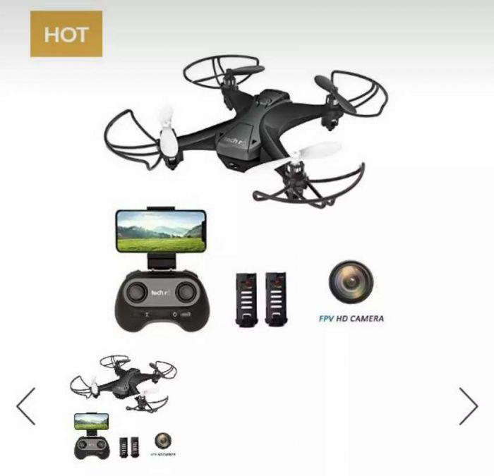 Tech Rc Mini Drone With Camera, WiFi FPV Quadcopter Drone